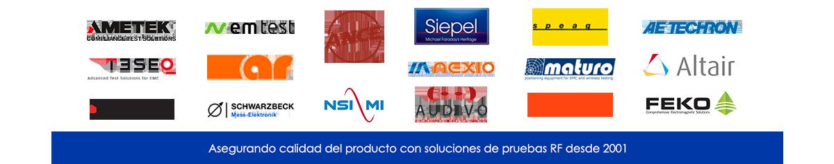 Trabajamos con las mejores marcas en Compatibilidad Electromagnética